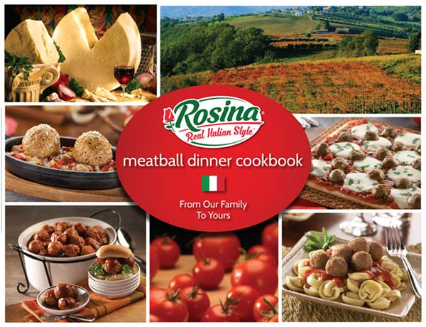 Rosina Meatball Dinner Cookbook cover image
