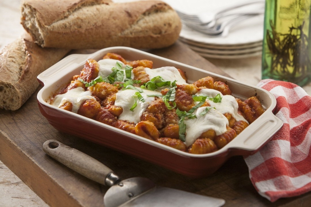 Cheesy, Oven-Baked Gnocchi with Marinara
