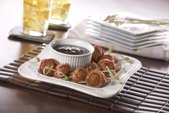 BBQ Bacon Wrapped Meatballs