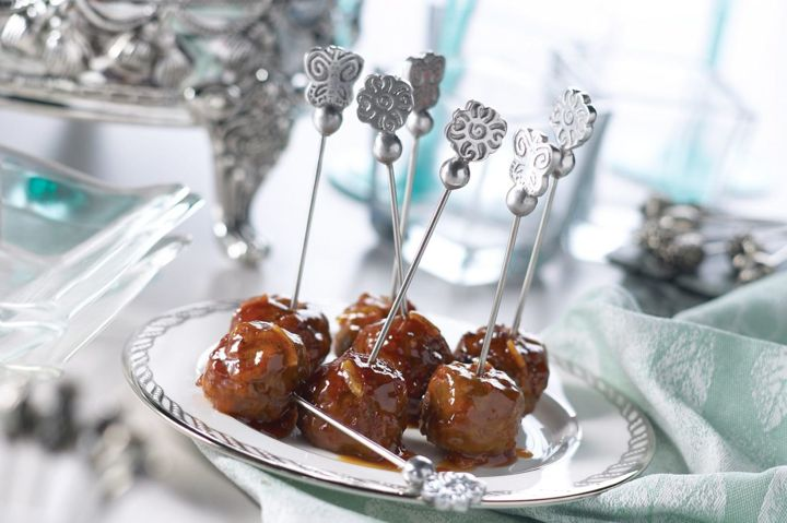 Sweet and Tangy Glazed Meatballs