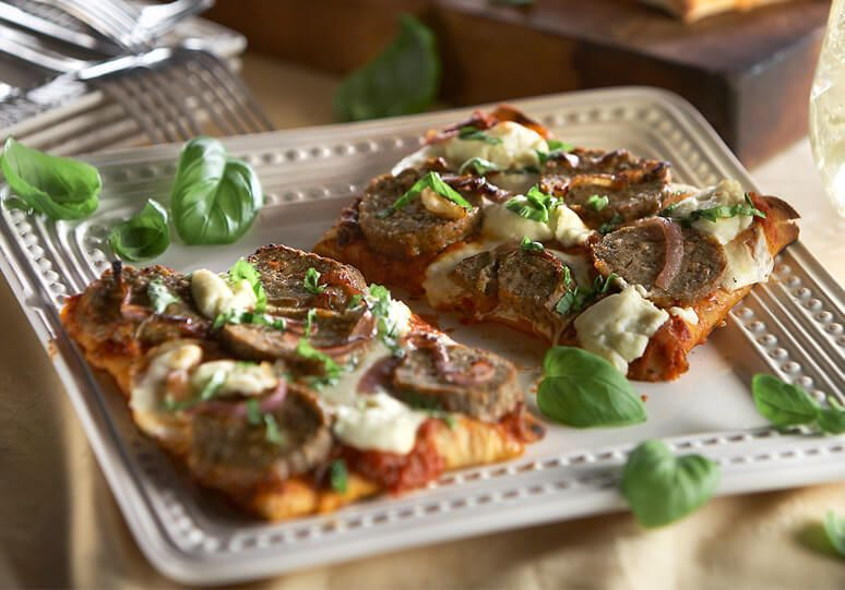 Tuscan-Style Veal Meatball Flatbread
